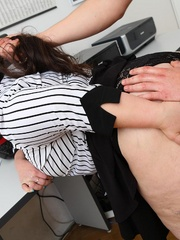 He comes into the office and the BBW puts the moves on - Picture 9