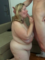 She likes the way this slender young guy makes her fat - Picture 15