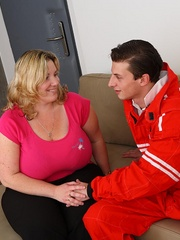 She gets him out of his mechanic outfit and he strips - Picture 2