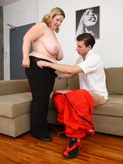 She gets him out of his mechanic outfit and he strips - Picture 7