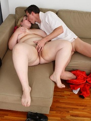 She gets him out of his mechanic outfit and he strips - Picture 10