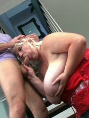 The photographer is seduced by the blonde BBW and their - Picture 11