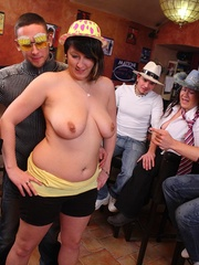 The party features three fatties and three guys and they - Picture 9