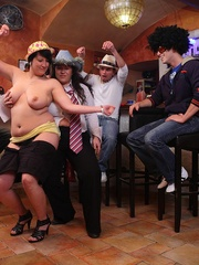 The party features three fatties and three guys and they - Picture 11