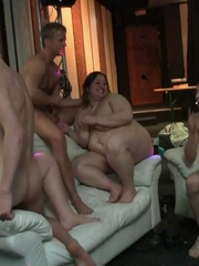 The BBW party shows the ladies stripping, sucking, and - Picture 14