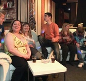 The fatty at the BBW orgy party in the bar is bent…