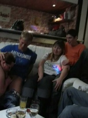 After the drunken fat chick gives him a blowjob he puts - Picture 9