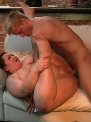 He pounds the fat chick at the party and she moans for - Picture 9