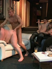 The BBW sluts at the orgy party suck dick and one gets - Picture 9