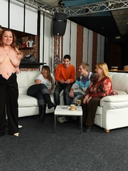 The beautiful BBW party shows hot fat chicks sucking and - Picture 6