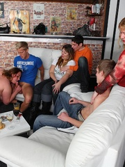 The beautiful BBW party shows hot fat chicks sucking and - Picture 9