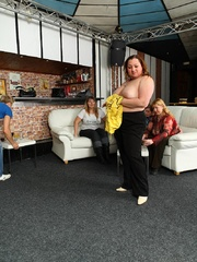 Plumper at the party is fucked and so are her fat - Picture 5