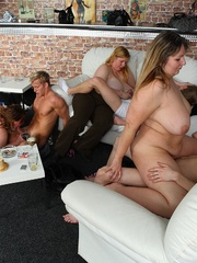 Fat girl at party is a slut and she gets boned right - Picture 8