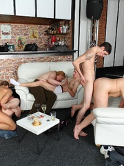 Fat girl at party is a slut and she gets boned right - Picture 11