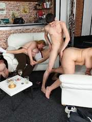 Fat girl at party is a slut and she gets boned right - Picture 13