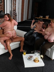 The fat girl at the party has incredible hardcore sex - Picture 12