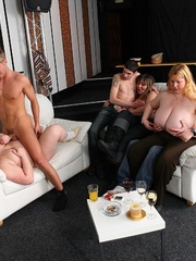 The orgy in the bar features drunken fatties sucking - Picture 14