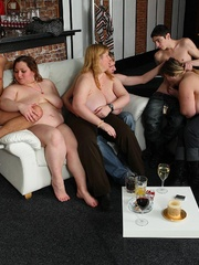 Cocksucking fatties are showing the slender guys that - Picture 15