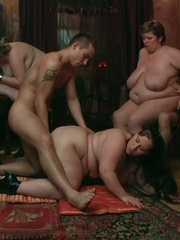 The BBW group scene features sexy rolls of fat and a - Picture 14