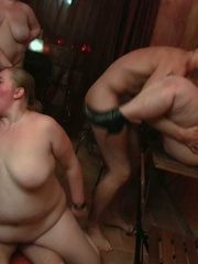 They all get naked and then one horny fat chick rides a - Picture 15