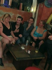 The horny bar babes get naked and we see them sucking - Picture 4