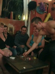 The horny bar babes get naked and we see them sucking - Picture 5