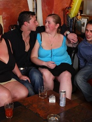 The horny fat chicks are in the middle of a wild orgy - Picture 3