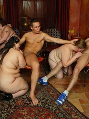 The horny fat chicks are in the middle of a wild orgy - Picture 11