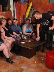 The BBW group sex goes on around them as the hot chick - Picture 2