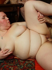 The plumper is on top of her man in the orgy and she - Picture 9