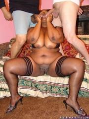 Interracial sex makes Chanel Diamond scream, as her fat - Picture 7