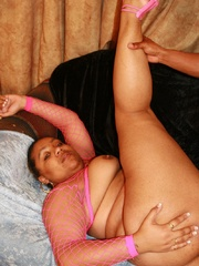 Nasty ebony BBW Alize loves getting hard black cocks - Picture 16