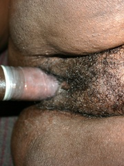 Black Cherry's ebony BBW breasts bounce everywhere as he - Picture 12