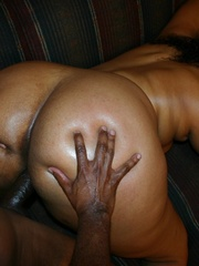 The reward for this fat black slut is a mouthful of cum - Picture 6
