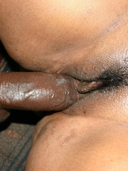 The reward for this fat black slut is a mouthful of cum - Picture 11