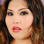 Asian BBW Cassie in red lingerie - Picture 3