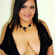 Horny chubby Asian Aum has fun showing her ass - Picture 2