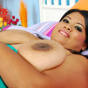 Chunky Asian milf Poo shows off her heavy tits - Picture 15