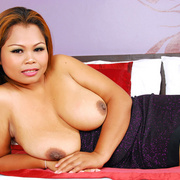 Chunky Asian girl shows off her big hanging tits - Picture 13