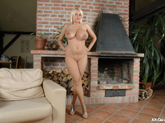 Plump blonde girlfriends in tight red undies slowly - Picture 10