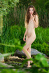 Beautiful brunette teen with luscious body…