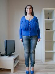 Seductive brunette mature presents her unbelievable huge - Picture 5