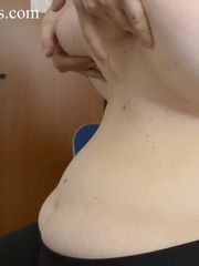 Blonde bitch with huge titties gets them grabbed and bit - Picture 1