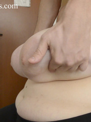 Blonde bitch with huge titties gets them grabbed and bit - Picture 2