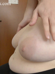 Blonde bitch with huge titties gets them grabbed and bit - Picture 6