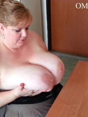 Blonde bitch with huge titties gets them grabbed and bit - Picture 9