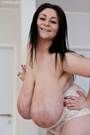 long-haired brunette bitch white