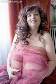 curly brunette mature wrapped