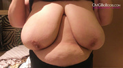 fat mature playing with