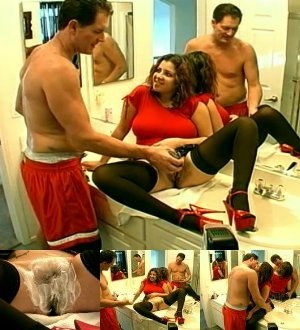 Curly chick with big juggs in red T-shirt allows to shave her shaggy snatch - XXXonXXX - Pic 4
